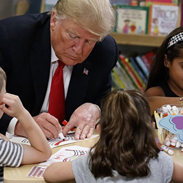 [미국]아이들이 트럼프 대통령에게 국기를 그려달라고 한 결과