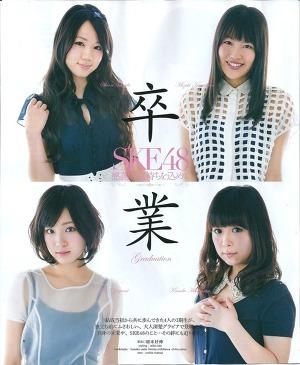 SKE48 Sotsugyou on BOMB Magazine