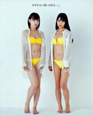 NMB48 Miru Shiroma and Yuuri Ota Osaka Kaisen on Bomb Magazine