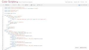 컬러 스크립터로 프로그래밍코드에 하이라이트 주기