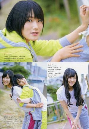 NMB48 Fuuko Yagura and Eriko Jo Do Sports on Entame Magazine