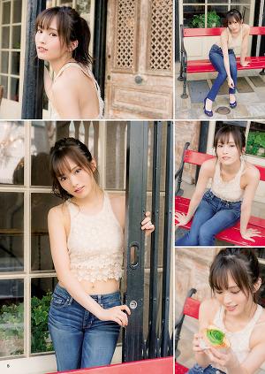 NMB48 Sayaka Yamamoto BYC 3rd Anniversary Special Gravure on BYC Magazine