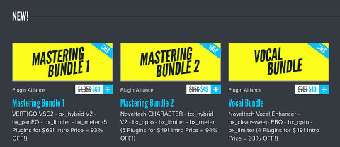 Plugin Alliance / Mastering Bundle, Vocal Bundle 할인