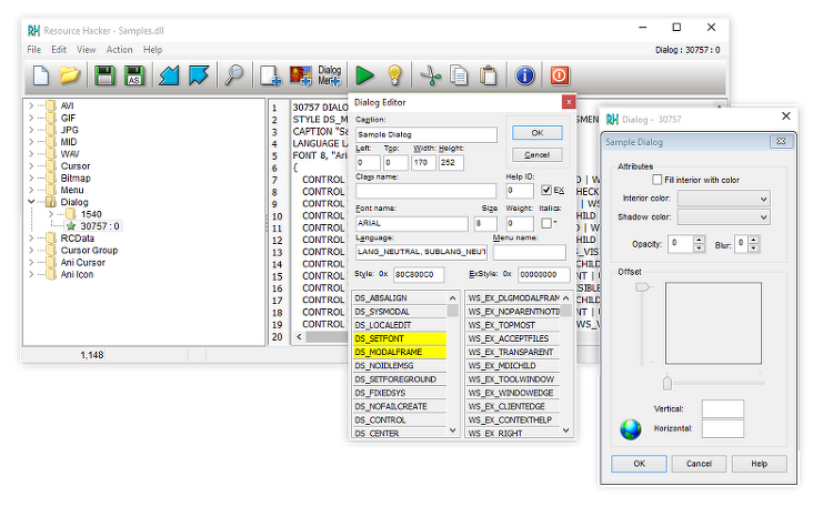 Resource Hacker - Windows 실행 파일 리소스 수정