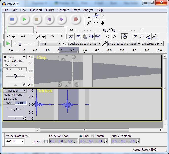 Audacity - 사운드 편집 프로그램