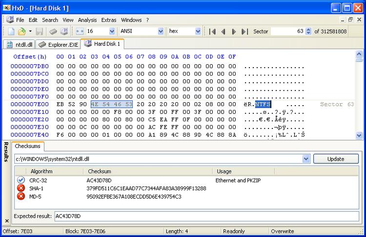 HxD - 무료 헥스 에디터 (Windows용)