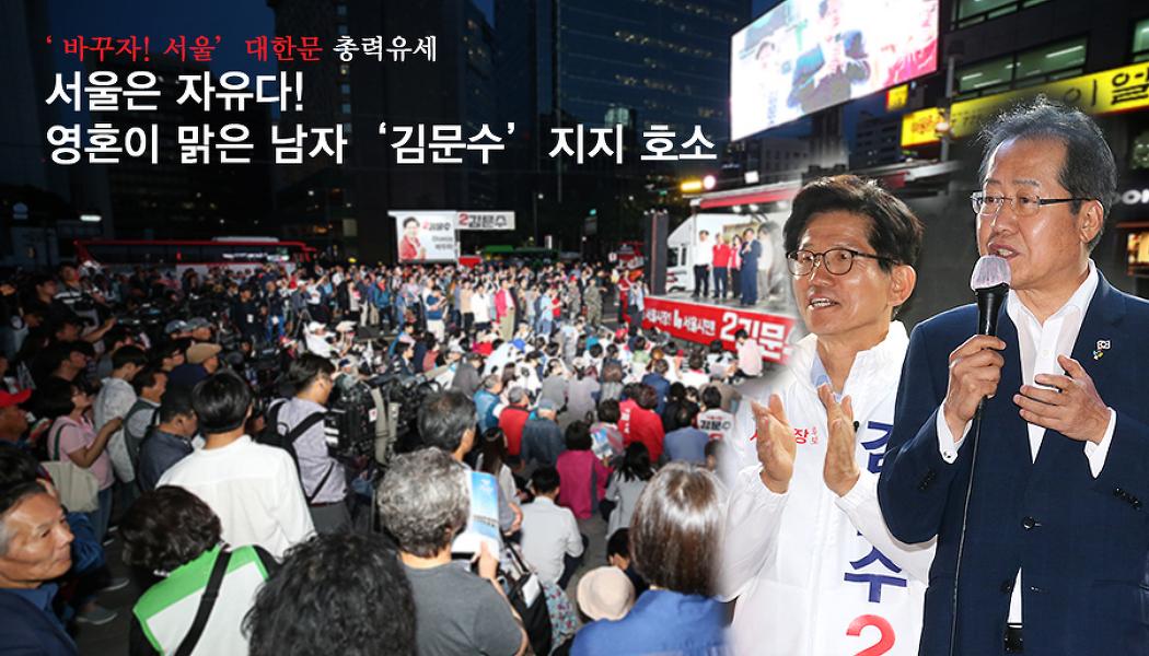 홍준표, '김문수'  영혼이 맑은 남자 지지 호소