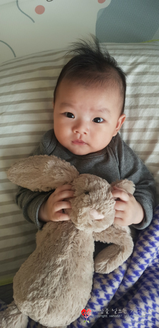 [20] 4개월 아기 발달상황, 잠안자는 아기