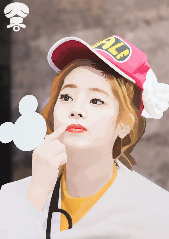 [일러스트] 트와이스[TWICE] - 다현 - 명동 팬싸인회 中