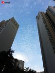 하늘에 양떼구름