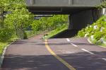 안산 수변공원에서 자전거 타기