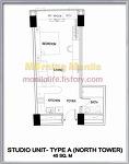 One Shangri-La Place - Studio Type A Unit Layout