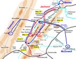 남북전쟁 4. 동부전역 - b. 계곡작전