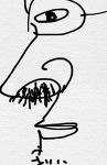 어느 각도에서나 콧구멍 속이 훤히 들여다 보이는 프랑스 아저씨.