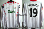 05/06 Liverpool Away L/S No.19 Morientes Player Issue Shirt (SOLD OUT)