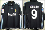 09/10 Real Madrid Away No.9 Ronaldo Match Issued (SOLD OUT)