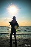 빛, 실루엣, 바다, 사진가...