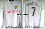 06/07 Valencia Home L/S No.7 David Villa Match Worn (Vs. Chelsea, 4 Apr 07) (SOLD OUT)