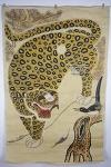 민화 까치 호랑이 -3 (150 x 96.5cm, 그림, 비단, 배접)