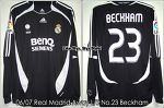 "06/07 Real Madrid Away L/S No.23 ""Beckham"" Match Issued (SOLD OUT)"