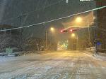 눈 오는 광주 풍경