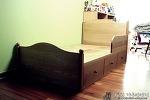큼직한 서랍이 달린 아이용 슈퍼싱글 평상형 침대 [미르의 가구이야기]