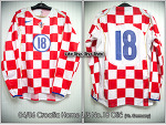 04/06 Croatia Home L/S No.18 Olic Match Worn Shirt (Vs. Germany 18 Feb 04)