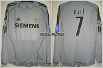 05/06 Real Madrid 3rd L/S No.7 Raul Match Prepared Shirt for UCL (SOLD OUT)