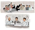 KBS뉴스 보도를 위한 최순실 재판 법정스케치