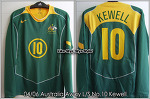 04/06 Australia Away L/S No.10 Kewell Player Issue Shirt (SOLD OUT)