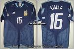04/06 Argentina Away S/S No.16 Aimar 2005 Germany Confederations Cup Ver.