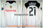 04/05 Valencia Home L/S No.21 Aimar Match Worn Issued Shirt (SOLD OUT)