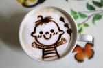 [홈메이드 카페 / 카페라떼] 꼬맹이라떼 # 가장 마음에 드는 카페라떼 # 라떼아트 # 에칭 2017