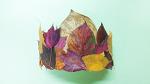 낙엽으로 왕관과 목걸이 만들기