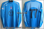 04/06 Korea National Football Team Goalie Blue L/S No.77 Training Worn
