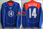 04/06 New Zealand Away L/S No.14 Nelsen Player Issue Shirt