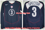 04/06 USA Away L/S No.3 Spector Player Issue Shirt