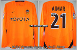 03/04 Valencia Away L/S No.21 Aimar Player Issue Shirt (SOLD OUT)