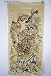 민화 까치 호랑이 -5 (139 x 66cm, 그림, 비단, 배접)