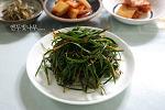 봄의 건강식....초벌부추겉절이^^