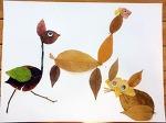 아이와 함께 하는 낙엽 놀이(낙엽 줍기, 낙엽 동물 만들기)