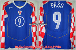 04/06 Croatia Away L/S No.9 Prso Player Issue Shirt