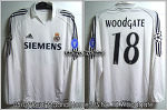 05/06 Real Madrid Home L/S No.18 Woodgate UCL Player Issued Shirt (SOLD OUT)
