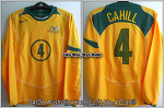 04/06 Australia Home L/S No.4 Cahill Player Issue Shirt