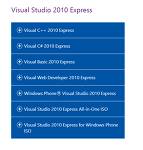 C#.1 Visual Studio 2010 다운로드