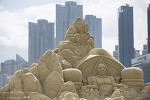 해운대 해수욕장의 모래축제