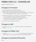 페블 타임 3.4 펌웨어 변경점
