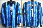 98 England Goalie Blue L/S No.1 Seaman (For France World Cup '98 Qualifier)