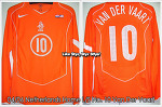04/06 Holland Home L/S No.10 Van Der Vaart Player Issue Shirt Vs. USA (18.2.2004)