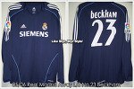 "05/06 Real Madrid Away L/S No.23 ""Beckham"" - Match Worn (SOLD OUT)"